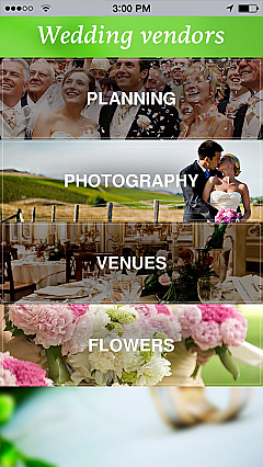 Wedding vendors App Templates