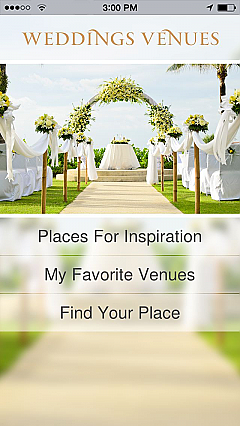 Wedding Venues App Templates