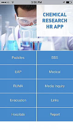 Chemical Research HR App App Templates